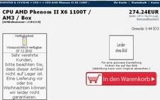 Beitragsbild: Erster AMD Phenom II X6 1100T im Online-Shop